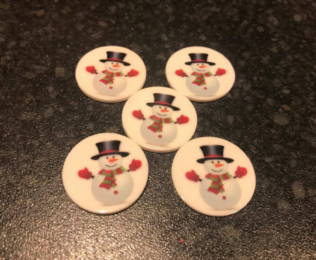 5 X 25MM SNOWMAN CHRISTMAS XMAS LASER CUT FLAT BACK RESIN HEADBANDS HAIR BOWS